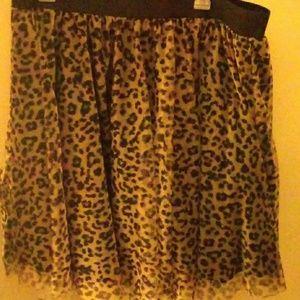 Torrid Leopard Cheetah Tulle Skirt Tutu 1X punk